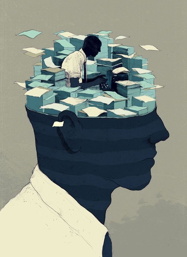 Scientific American - Editorial illustration for an article about the free will and the origins of our decisions.