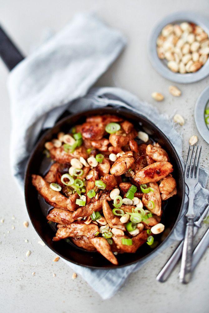 Lähes nostalginen kanawokki! Kiinalainen kanaa kung pao on ensimmäisiä Suomeen saapuneita etnisiä ruokia. Jotenkin se on niin epämuodikasta, että sen on ih
