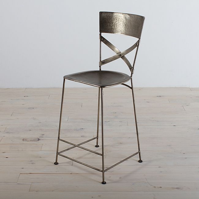 carefully crafted in india from iron this jabalpur counter stool would be a lovely accent to