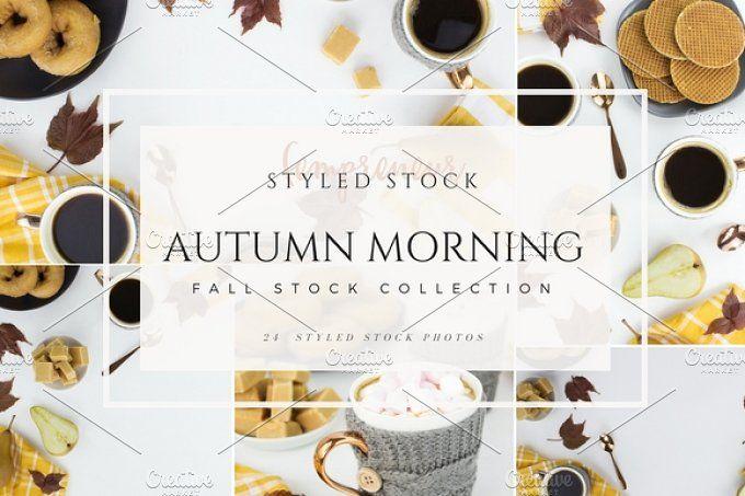 Autumn breakfast styled stock photo - Holidays
