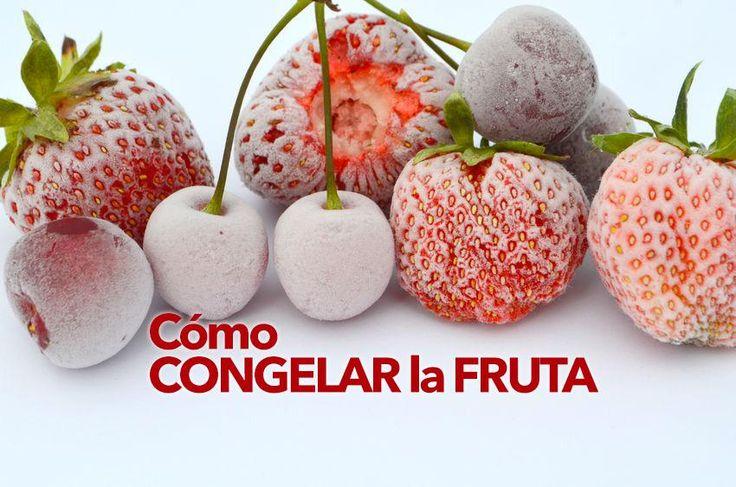 Aquí puedes ver cómo congelar fruta fresca para sorbetes y postres en casa, de manera fácil.