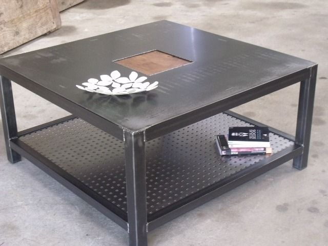 Les 25 meilleures id es de la cat gorie table fer forg sur pinterest chais - Table basse en metal ...