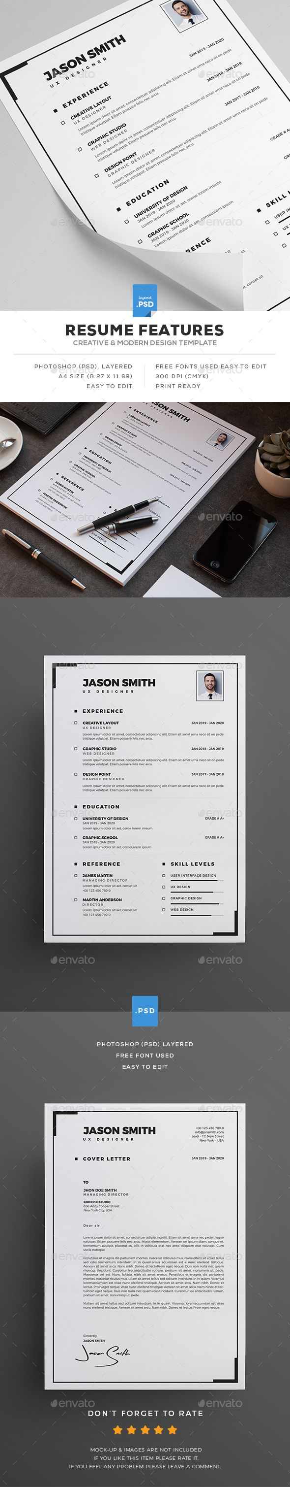 Clean Resume Resumes Stationery Download here