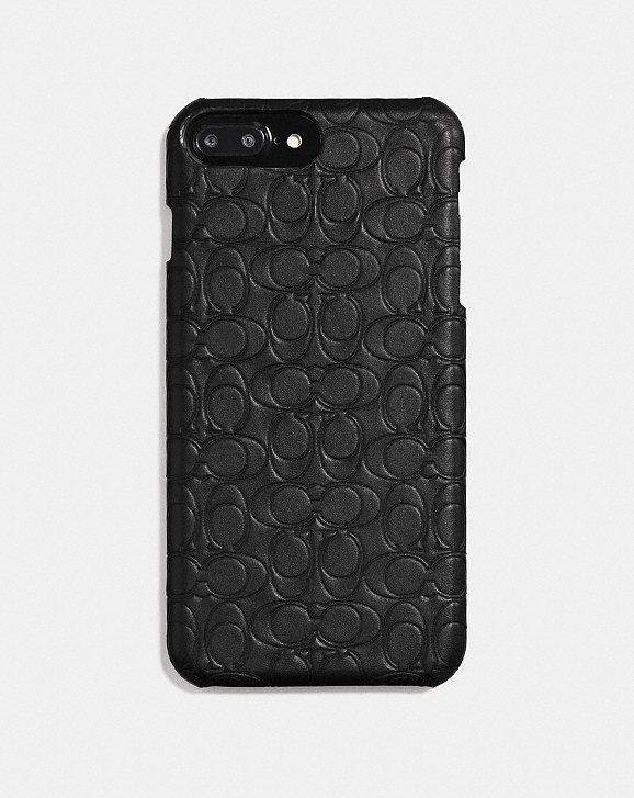 coach iphone 8 plus case in signature leather accessories iphonecoach iphone 8 plus case in signature leather