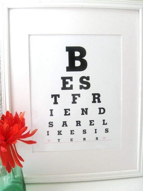 Best Friend Craft Ideas  | Friend Birthday Gifts Best Friends are Like by Eyecharts on Etsy, $15 ...
