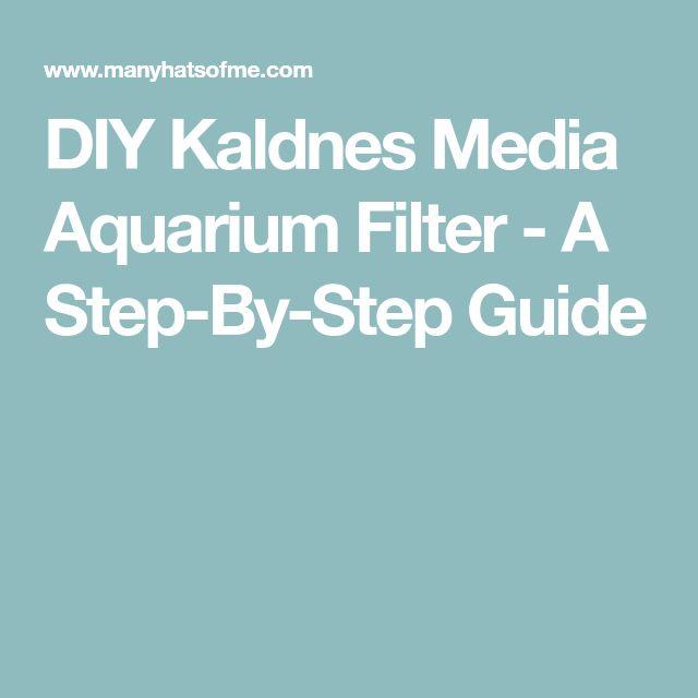 DIY Kaldnes Media Aquarium Filter - A Step-By-Step Guide