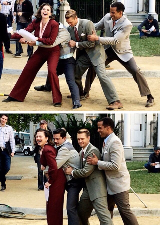 Behind the scene on Agent Carter haha
