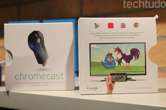O Google Chromecast, que reproduz na TV áudio e vídeo da Web, chegou ao Brasil por R$ 199 nas lojas online de Extra, Ponto Frio e Casas Bahia. Ele suporta smartphones e tablets com os sistemas mais usados e está pronto para serviços populares como Netflix e YouTube. Leia mais no TechTudo, por Fabrício Vitorino.