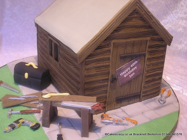 Diy Shed Cake The Garden Shed Shaped Cake Ideal For