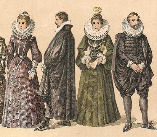 Lechuguilla: Indumentaria del siglo XVI