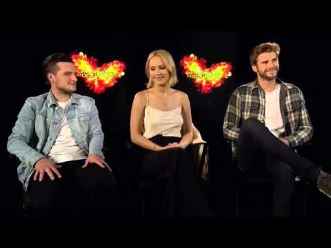 Mockingjay Pt 2 Cast Interview in Berlin where JLaw regails us with stories of her sausage fest in Berlin