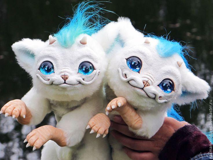 Купить маленький дракон Хаку - белый, дракон, малыш, фентези, авторская ручная работа