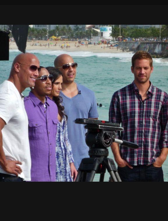 Fast Five cast (Paul Walker, Vin Diesel, Jordana Brewster, Ludacris & the Rock: Dwayne Johnson) with Natalie Morales for NBC 'The Today Show' Catumbi, Rio - 13 April 2011