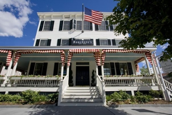 Hotel Fauchere in Milford, Pennsylvania has attracted visitors (including many notables) since it opened in 1880. Easy to see why: it's located in a particularly beautiful part of the Delaware Water Gap. The Relais & Chateaux hotel follows suit. http://www.hotelfauchere.com/