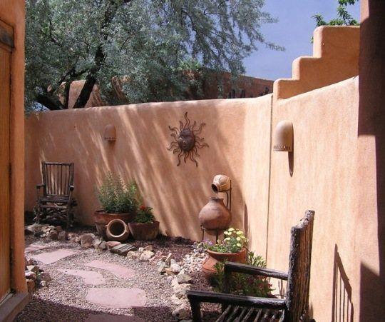 Best 25 santa fe decor ideas on pinterest santa fe home for Piani casa adobe hacienda