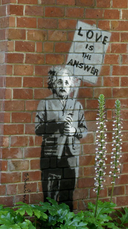 Einstein in the Garden, by banksy