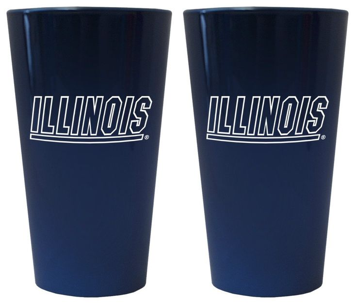 Illinois Fighting Illini Lusterware Pint Glass - Set of 2
