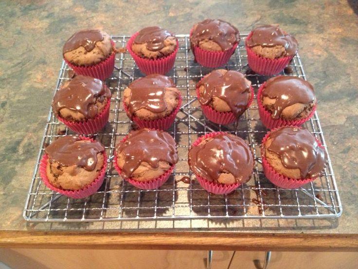 Choc-drizzle muffins!