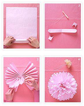 Faça a sua própria decoração de casamento com flores de papel