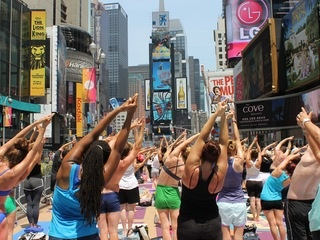 Bikram Yoga in Times Square