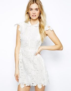 Image 1 of Arrogant Cat London Embroidered Skater Dress with Collar