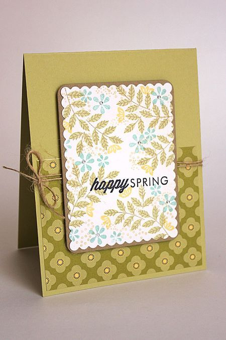 Happy Spring Card by Heather Nichols for Papertrey Ink (March 2014)