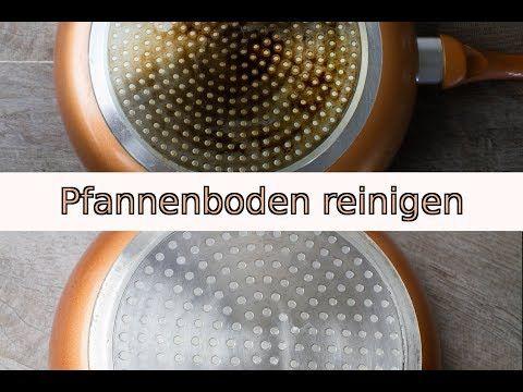 Dreckigen Pfannenboden / Topfboden schnell und einfach reinigen mit Backofenreiniger - YouTube