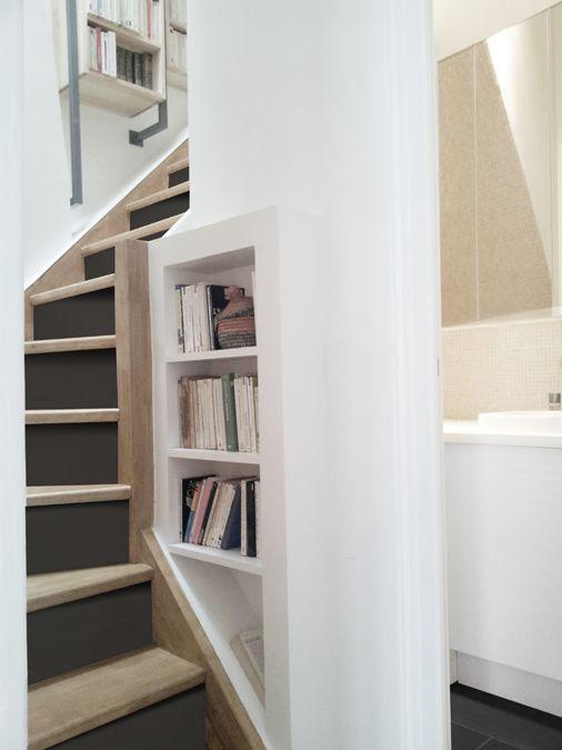 Détail de l'escalier Yeme+Saunier / Duplex Montmartre