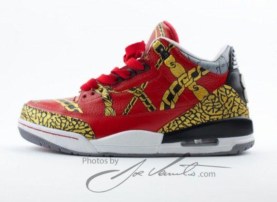 Air Jordan III Dope Boy Customs by El Cappy