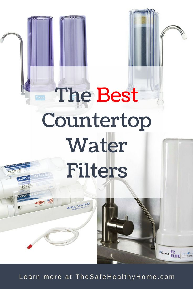 Guide To The Best Countertop Water Filters Right Now The Safe