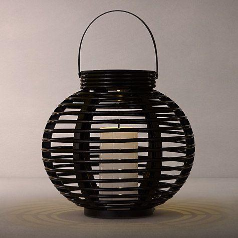 Buy John Lewis Cabot Lattice Outdoor Solar Lantern, Medium Online at johnlewis.com