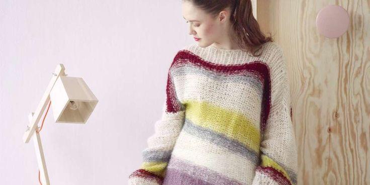 DEILIG STRIKK: Ta strikkepinnene fatt og strikk sommerens lekreste strikkegenser i deilige pasteller.