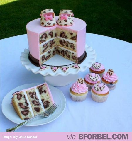 Cute idea if having a girl. Or baby girl party cake. This would be a must for me to do! #foods #recipes