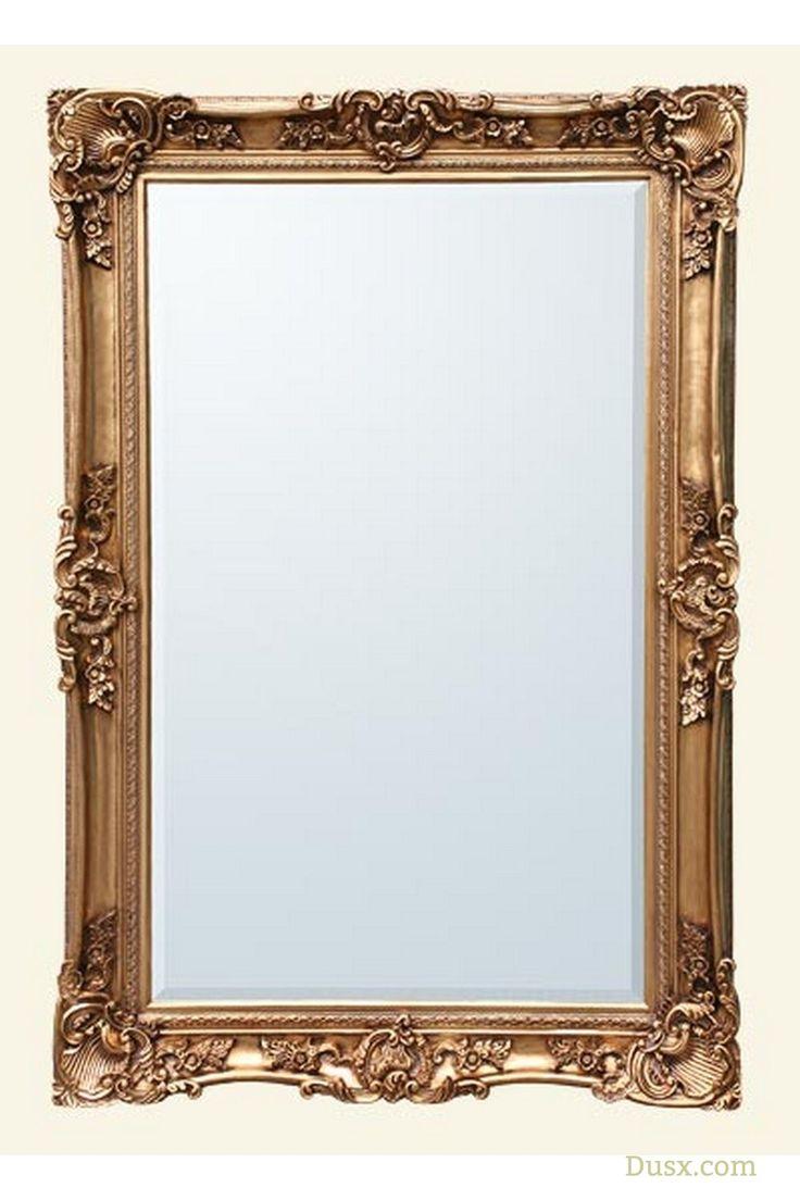 Large antique floor standing mirror