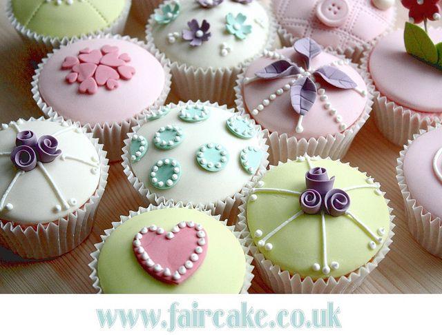 Vintage Cupcakes by Fair Cake, via Flickr