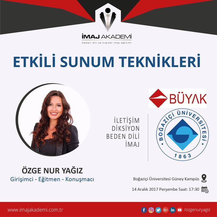 Boğaziçi Üniversitesi, Etkili Sunum Teknikleri Eğitimi için İmaj Akademi markamızı tercih etti! www.imajakademi.com.tr #imajakademi #etkilisunumteknikleri #boğaziçiüniversitesi #büyak