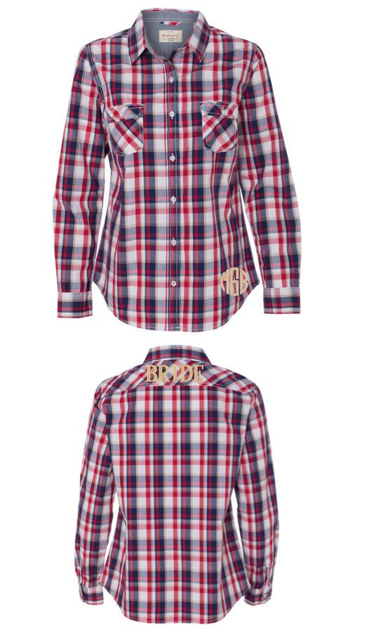 Monogrammed Oxford Shirt Monogrammed Plaid Shirt