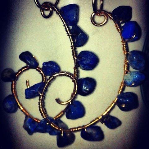 selfmade sodalite earrings