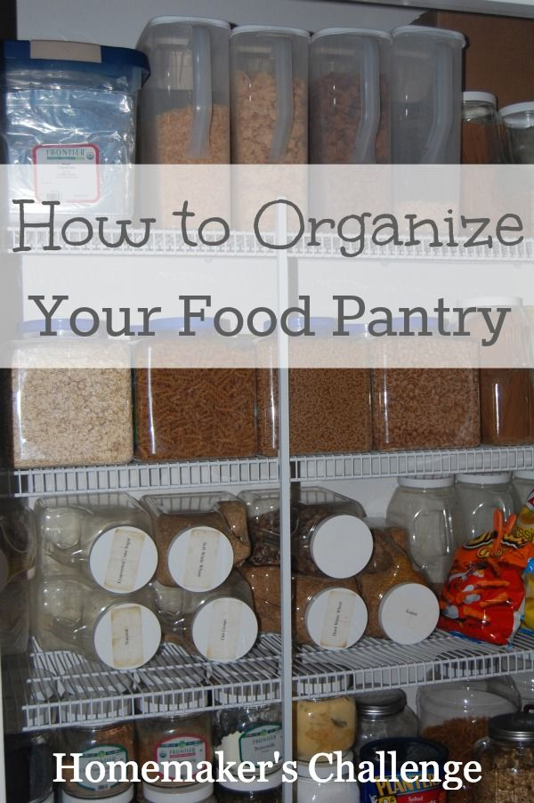 Organize the pantry.  Looks like big jugs from Sam's Club foods laid on sides.