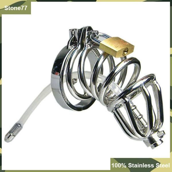 2016 New Style Double Ring Chastity Devices Silicone Tube with Barbed…