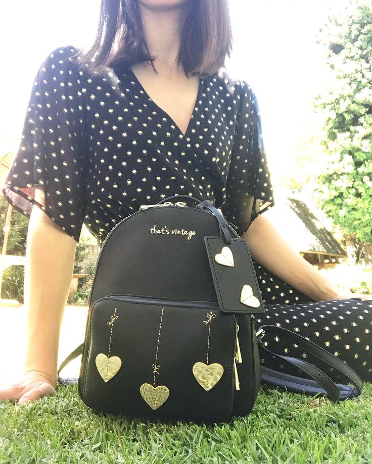 Black That's Vintage backpack