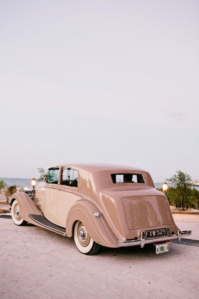 travel in style in a beige vintage car | #beige