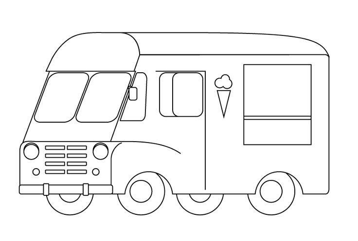 Grace the vintage ice cream truck illustration. Version2.