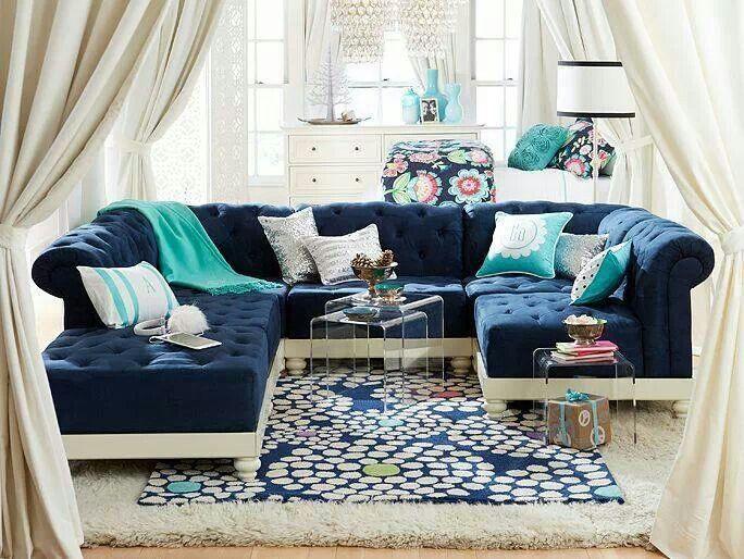 best ideas about Aqua living rooms on Pinterest