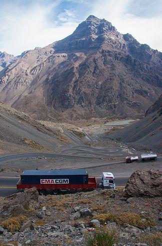 Snail Pass between Mendoza, Argentina and Santiago, Chile.