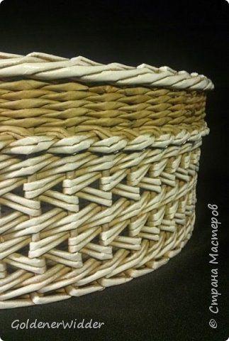 Поделка изделие Плетение Японское-послойное с послойным в две трубочки Бумага газетная Трубочки бумажные фото 1