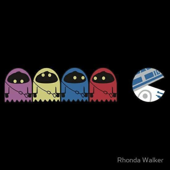 : Geek, Nerd, Pac Man, Pacman, Stars, Star Wars, Wars Pac, Starwars