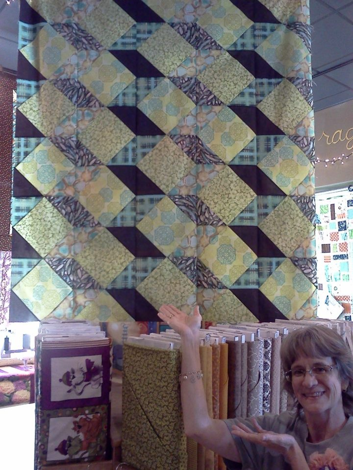 Another Great Swirly Girl quilt. I love these fabrics, definately outside the box...