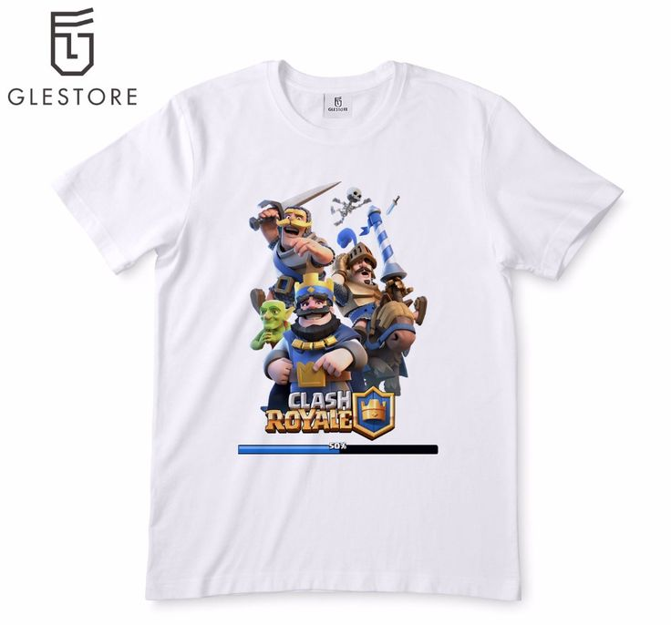 Clash Royale Games T-shirt Men'S Fashion Game of Thrones T Shirt Printed Cartoon Anim Character White T-Shirt