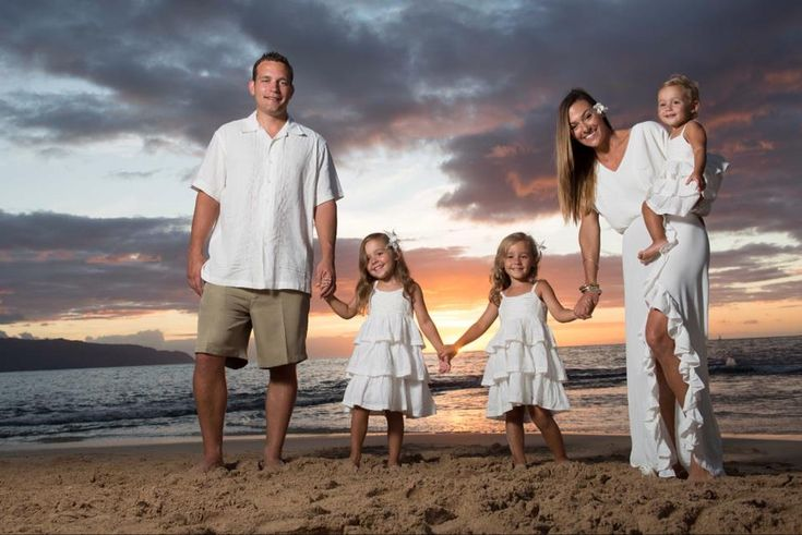 Beach Family Photo - Sunset   love my family :)